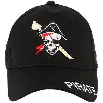 Accessoires textile Homme Casquettes Divers Casquette Baseball Noir Pirate Noir