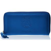 Sacs Femme Portefeuilles Christian Lacroix Porte-monnaie allongé  Relief PM1 Bleu Electrique Bleu