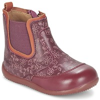 Chaussures Fille Boots Kickers BIGOR Bordeaux Orange