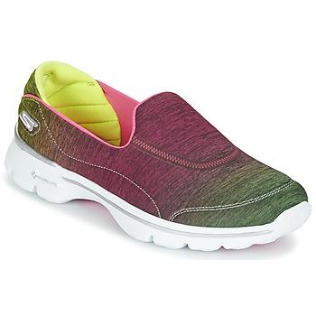 Chaussures Femme Baskets basses Skechers GO WALK 3 AURA Pink lemon