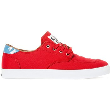 Chaussures de Skate Lakai BELMONT red canvas collab quiet life