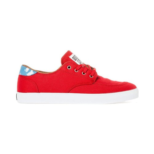 Chaussures Homme Chaussures de Skate Lakai BELMONT red canvas collab quiet life Rouge