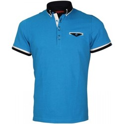 Vêtements Homme Polos manches courtes Andrew Mc Allister polo double col edwin turquoise Turquoise