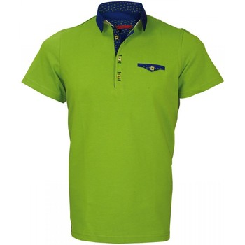 Polos manches courtes Andrew Mc Allister polo petit col russel vert