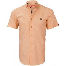 Vêtements Homme Chemises manches courtes Andrew Mac Allister chemisette oxford watford orange Orange