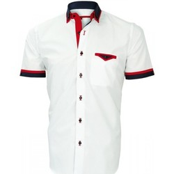 Vêtements Homme Chemises manches courtes Andrew Mc Allister chemisette double col coventry blanc Blanc