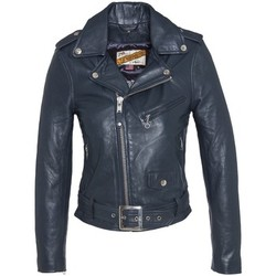 Vêtements Femme Vestes en cuir / synthétiques Schott PERFECTO FEMME  Indigo Bleu