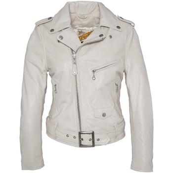 Vêtements Femme Vestes en cuir / synthétiques Schott PERFECTO FEMME  Blanc Blanc