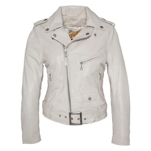 Blouson cuir perfecto blanc