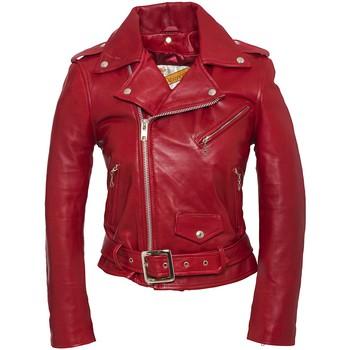 Vêtements Femme Vestes en cuir / synthétiques Schott PERFECTO FEMME  Rouge Rouge