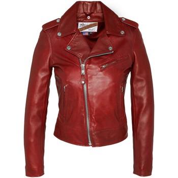 Vêtements Femme Vestes en cuir / synthétiques Schott VESTE PERFECTO SANS CEINTURE  Rouge Rouge