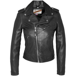Vêtements Femme Vestes en cuir / synthétiques Schott VESTE PERFECTO SANS CEINTURE  Noir LCW1601D Noir