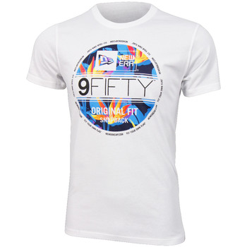 Vêtements Homme T-shirts manches courtes New Era Birds of paradise tee Optic White