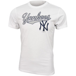 Vêtements Homme T-shirts manches courtes New Era MLB New York Yankees Script tee White