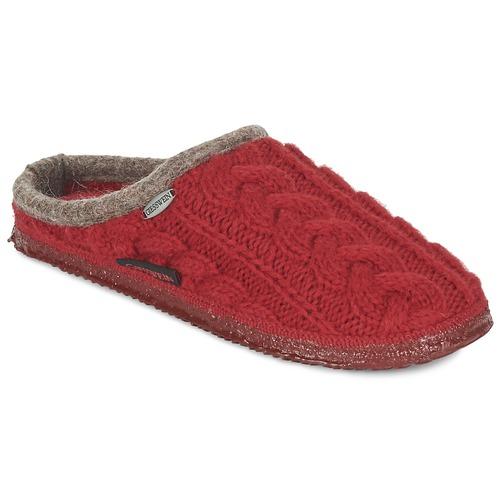 Chaussures Femme Chaussons Giesswein NEUDAU Rouge