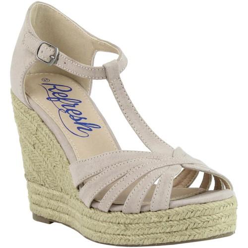 Chaussures Femme Espadrilles Refresh 61805 Beige