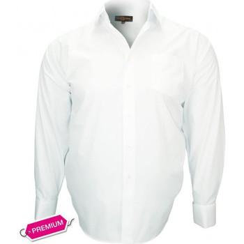 Chemises manches longues Doublissimo chemise premium mousquetaire blanc
