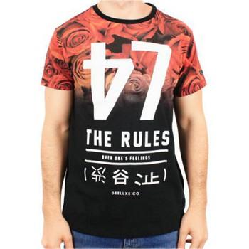 Vêtements Garçon T-shirts manches courtes Deeluxe Tee Shirt Deeluxe S16180K Mash Kid Black Noir