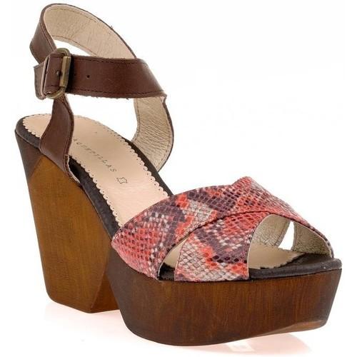 Chaussures Femme Sandales et Nu-pieds Vaquetillas Sandale rouge