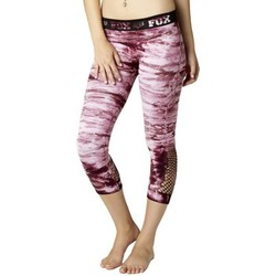 Leggings Fox Legging  Tie Dye Capri - Merlot