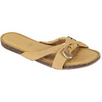 Chaussures Femme Mules Kebello Sandales claquette beige