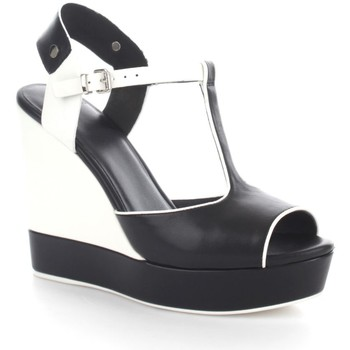 Chaussures Femme Sandales et Nu-pieds Luciano Barachini 6001G Sandales Femme Black/White Black/White