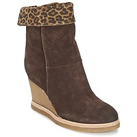 Chaussures Femme Bottines Vic VANCOVER GUEPARDO Marron / Léopard