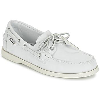 Chaussures Homme Mocassins Sebago DOCKSIDES Blanc