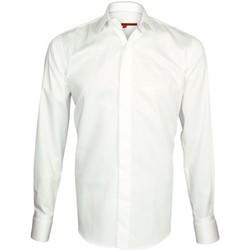 Vêtements Homme Chemises manches longues Andrew Mc Allister chemise a manchette biseautee william blanc Blanc