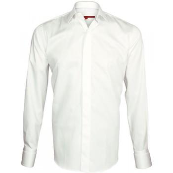 Chemise Andrew mc allister chemise a manchette biseautee william blanc
