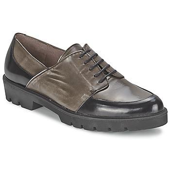 Chaussures Femme Mocassins Wonders CAMMA Noir / Gris