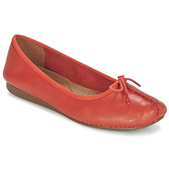 Chaussures Femme Ballerines / babies Clarks Freckle Orange