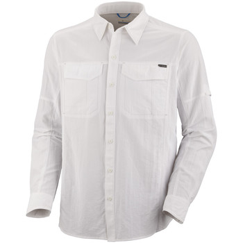 Vêtements Homme Chemises manches longues Columbia Silver Ridge long Sleeve Shirt Blanc