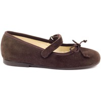 Chaussures Fille Ballerines / babies Boni Classic Shoes Boni Marguerite - Ballerine Filles Scratch Daim Marron