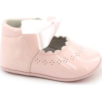 Chaussures Fille Chaussons bébés Boni Classic Shoes Boni Clémence - Chausson baptême cuir Rose