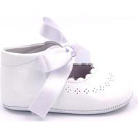 Chaussures Fille Chaussons bébés Boni Classic Shoes Boni Clémence - Chausson baptême cuir Blanche