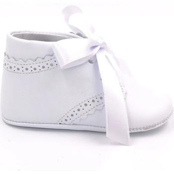 Chaussures Garçon Chaussons bébés Boni Classic Shoes Boni Edouard - Chausson baptême cuir Blanche