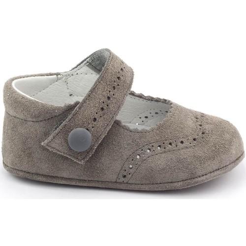 Chaussures Fille Chaussons bébés Boni Classic Shoes Boni Minnie - Chaussons bébé daim souple Gris
