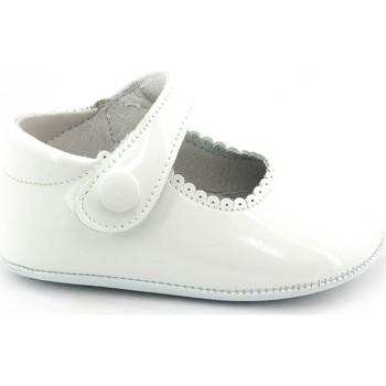 Chaussures Fille Chaussons bébés Boni & Sidonie Chaussons en cuir vernis souple - THERESE Blanche