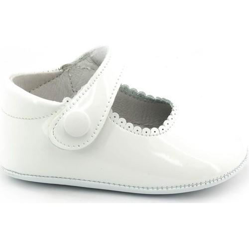 Chaussures Fille Chaussons bébés Boni Classic Shoes Boni Thérèse - Chaussons bébé cuir vernis souple Blanche