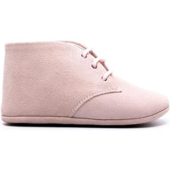 Chaussures Enfant Chaussons bébés Boni Classic Shoes Boni Charles - chausson cuir souple lacet Daim Rose
