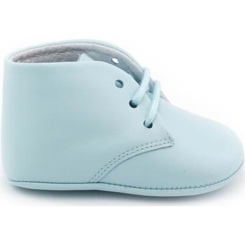 Chaussures Enfant Chaussons bébés Boni & Sidonie Chausson cuir souple à lacet - CHARLES Bleu