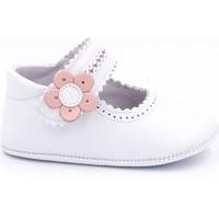 Chaussures Fille Chaussons bébés Boni Classic Shoes Boni Charlotte - Chaussons bébé cuir souple Blanche