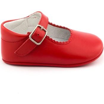 Chaussures Fille Chaussons bébés Boni & Sidonie Chaussons bébé cuir souple - ALIX Rouge