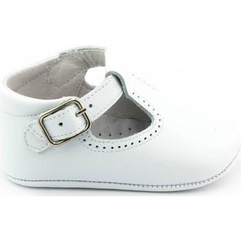 Chaussures Enfant Chaussons bébés Boni Classic Shoes Boni Johan - Chaussons bébé cuir souple Blanche