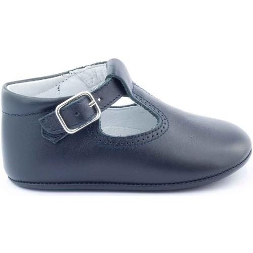 Chaussures Enfant Chaussons bébés Boni & Sidonie Chaussons en cuir souple - JOHAN Bleu Marine