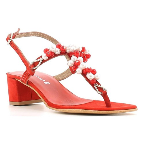 Chaussures Femme Tongs Le Chicche 18F163H5 Sandales Femmes Rouge Rouge