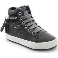 Chaussures Fille Baskets montantes Geox Geox J Witty D Gris foncé Gris