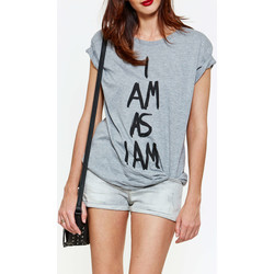 Vêtements Femme T-shirts manches courtes As I Am Tee Shirt Mc  Gris Gris