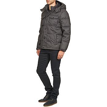Dockers Gris Homme Parka Vêtements Herringbone Doudounes 4jqc35RAL